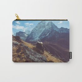 Yak amongst the Himalayan mountains, Nepal Carry-All Pouch