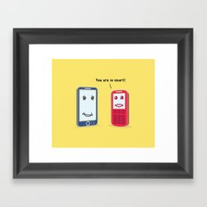 Smartphone evolution Framed Art Print