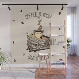 Coffee And Books Wall Mural