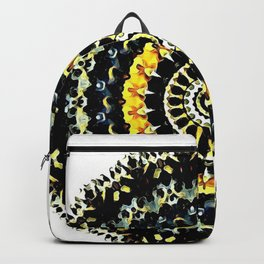 Mandala - Black and Yellow Backpack