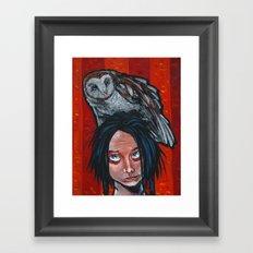 whoa, owl! Framed Art Print