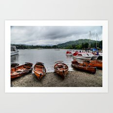 Ambleside Boats Art Print