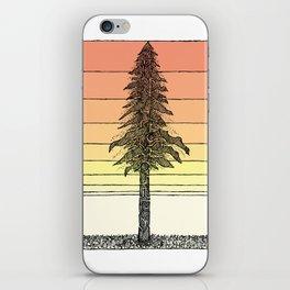 Coastal Redwood Sunset Sketch iPhone Skin