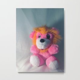 Wee Neon Carnival Prize Lion Cub Metal Print