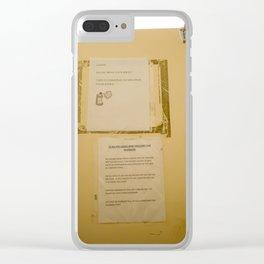 Civil Service Clear iPhone Case