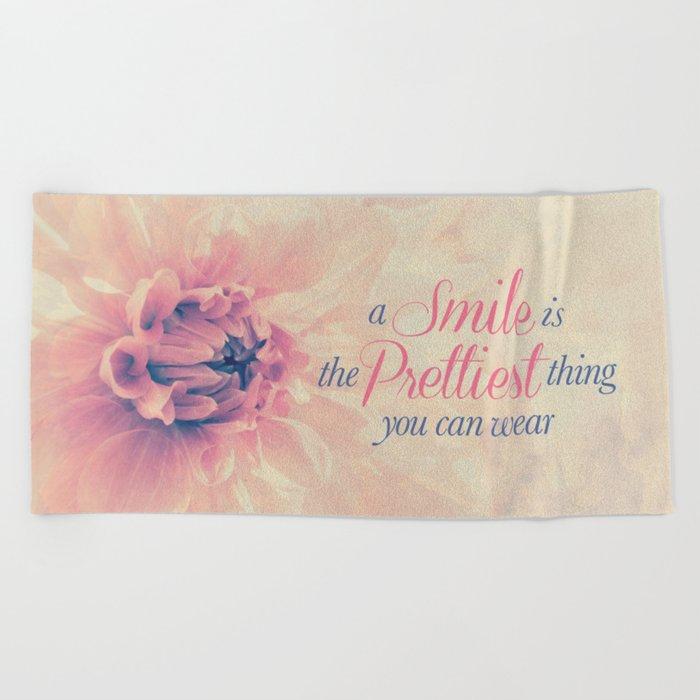 Spring Dahlia I - Her Smile Beach Towel