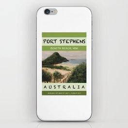 Travel Poster Zenith Beach Art Print iPhone Skin