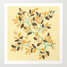 Crisp Autumn Branches Art Print