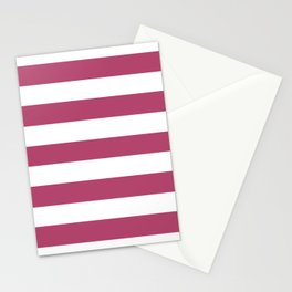 Irresistible - solid color - white stripes pattern Stationery Cards