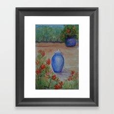 Cobalt Fountain WC151209b-13 Framed Art Print