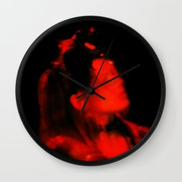 Dreaming Red Wall Clock