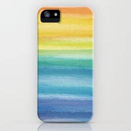 Watercolor Rainbow_ iPhone Case