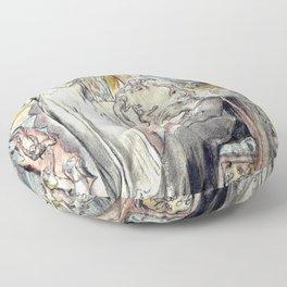 "William Blake ""The Spirit of Plato"" Floor Pillow"