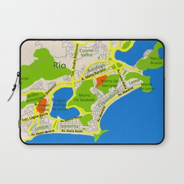 RIO map design - Brasil Laptop Sleeve