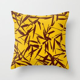 JUNGLIA PALM GOLD Throw Pillow