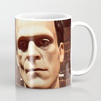 frank Mugs featuring Frank by Jimmy Duarte