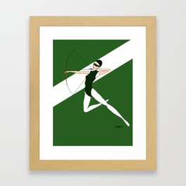 Green archer Framed Art Print