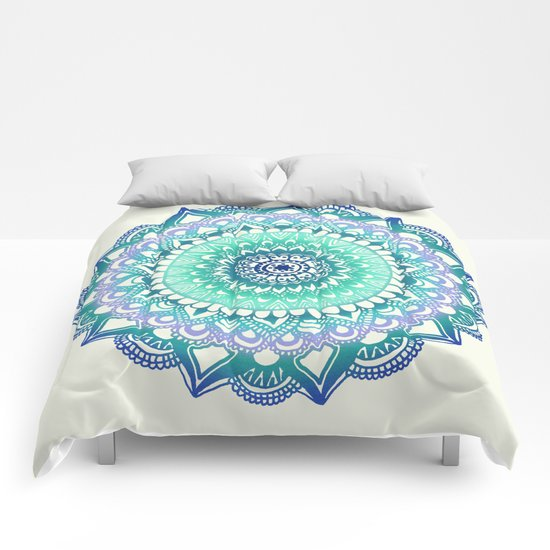 Deep Forest Flower Comforters