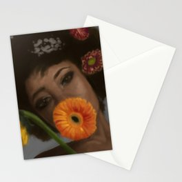 Sunflower Woman Stationery Cards