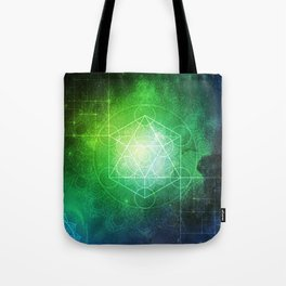 Abstract Deep Space Portal Blue-Green Tote Bag