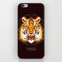 thundercats iPhone & iPod Skins featuring Geometric Tiger by chobopop