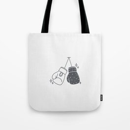 Boxing gloves night and day Tote Bag