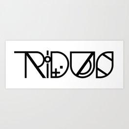 Tridus Black Art Print