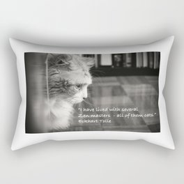 Zen Cat Rectangular Pillow