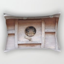 Chipmunk in the Birdhouse Rectangular Pillow