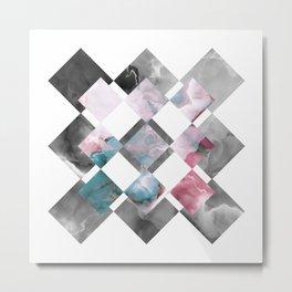 MARBLED ONYX & GEOMETRIC II Metal Print
