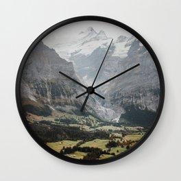 Swiss peaks Wall Clock