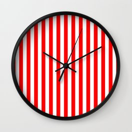 STRIPED DESIGN (RED-WHITE) Wall Clock