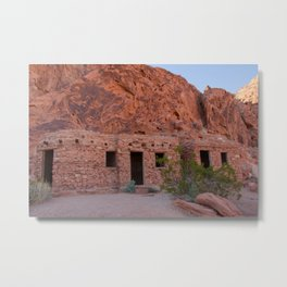 CCC Cabins-1, Valley of Fire State Park, Nevada Metal Print