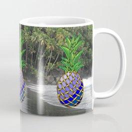 Blue Hawaiian Pineapple Knot Coffee Mug