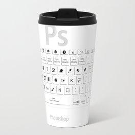 Photoshop Keyboard Shortcuts Travel Mug