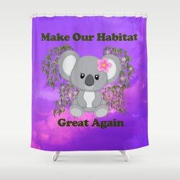 Save Koala Shower Curtain