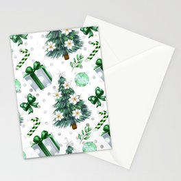 Snowy Christmas Gift Box Peppermint Stationery Cards