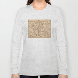 Vintage Map of The Battle of Bull Run (1861) Long Sleeve T-shirt
