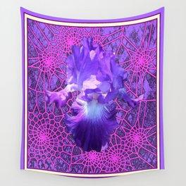 Lavender Purple Iris Dream Catcher Art Wall Tapestry