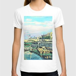12,000pixel-500dpi - Armand Guillaumin - The Bridge of Louis Philippe - Digital Remastered Edition T-shirt