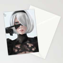 Nier Automata 2b fanart cosplay SesshuAsuak portrait Stationery Cards