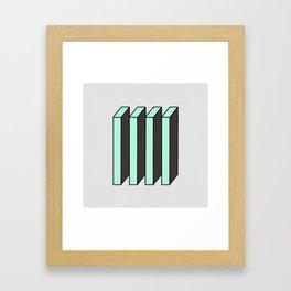 Mint and Chocolate Bricks Framed Art Print