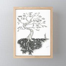 His Sister Buried All his Bones under the Juniper Tree Framed Mini Art Print