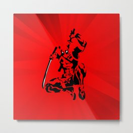 Dead Pool in Action Metal Print