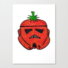 Strawberry Stormptrooper Canvas Print