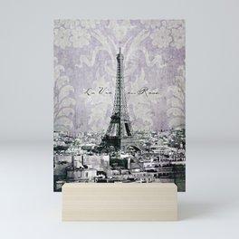 romantic Paris violet Mini Art Print
