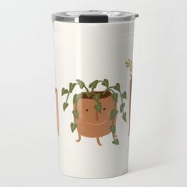 Little Face Vases Travel Mug