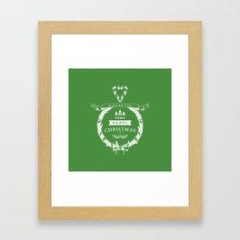 Merry Christmas - Green Framed Art Print