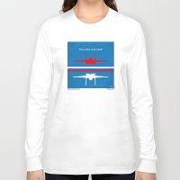 top gun Long Sleeve T-shirts featuring No128 My TOP GUN minimal movie poster by Chungkong