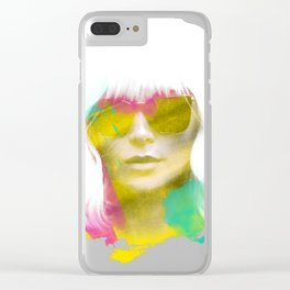 Atomic Blonde Water Color Clear iPhone Case